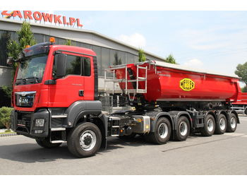 Tipper semi-trailer MAN SET 6x6 TGS 33.480 EURO 6