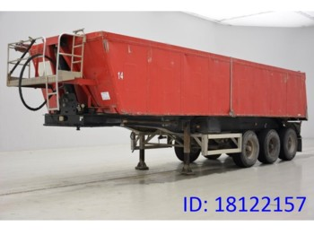 Tipper semi-trailer MOL 28 Cub in Alu