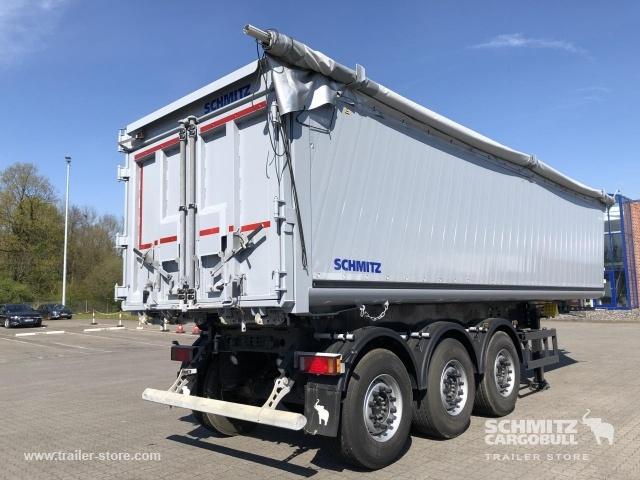tipper semi-trailer SCHMITZ Auflieger Kipper Alukastenmulde 40m³