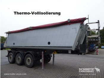 Tipper semi-trailer SCHMITZ Auflieger Kipper Alukastenmulde Insulated