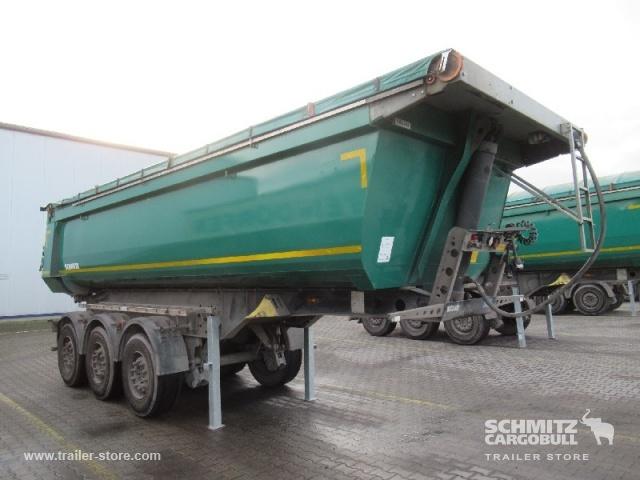 tipper semi-trailer SCHMITZ Auflieger Kipper Stahlrundmulde 24m³