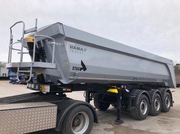 Tipper semi-trailer STAS S300 CX 24,5m³ Stahl Mulde