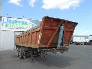 Trouillet benne/tipper - 8 roues/tyres - tipper semi-trailer