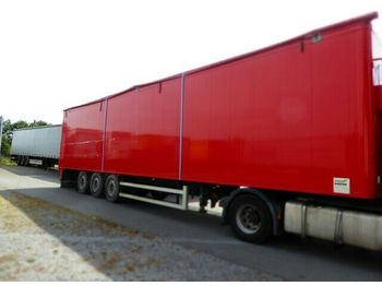 Walking floor semi-trailer Knapen 92 cbm Schubboden , Typ K200, MB Scheibe, Lift