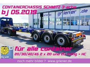 Semireboque transportador de contêineres/ caixa móvel Schmitz Cargobull SCF 24 G 45 EURO 20/30/40/45 2 x 20 fuss LIFT