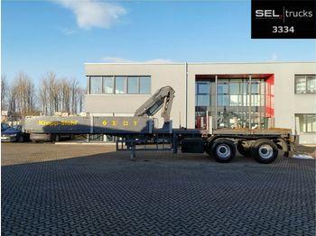 Schmidt Schütte / Stahl / Lenkachse / Ausschub  von 1,5m  - semirremolque caja abierta
