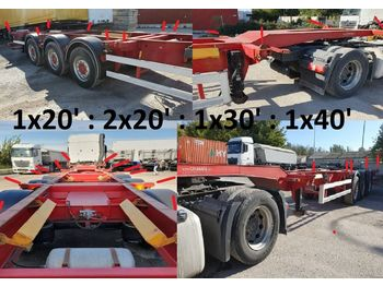 Container-transport/ vekselflak semitrailer 2X RAVENS TRAILER CONTENAIRE 1X20'2x20'1x30'1x40'
