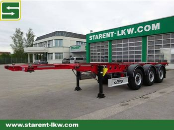 Container-transport/ vekselflak semitrailer Fliegl Containerchassis SDS 380 light, 20/30 Fuß