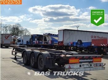 Container-transport/ vekselflak semitrailer Kässbohrer CS Liftachse Ausziehbar 2x20-1x30-1x40-1x45
