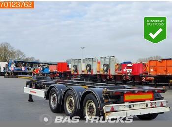 Container-transport/ vekselflak semitrailer Kässbohrer CS Liftachse Ausziehbar 2x20-1x30-1x40-1x45 ft.
