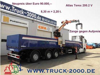 Wellmeyer Atlas200.2 Kran-Stein+Baustofftransp. - flatbed semitrailer