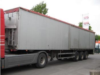 Reisch 3-Achs-Schubbodenauflieger 76 m³ - lukket påbygg semitrailer