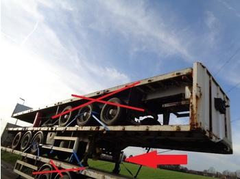 Plattform semitrailer Leci Trailer Oplegger 15x flatbed plateau