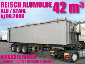 ALUMULDE REISCH 42³ multitüre hinten TOPZUSTAND - tipp semitrailer