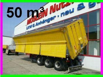 Reisch 3 Achs 2  Seiten  Kippauflieger ca. 50,5 cbm, - tipp semitrailer