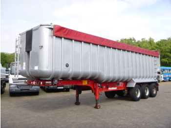 Tippbil semitrailer Fruehauf Tipper trailer alu 52 m3 + tarpaulin