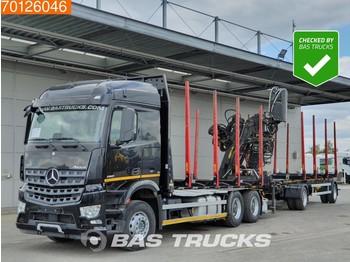 Mercedes-Benz Arocs 2651 L 6X4 German-truck Retarder Euro 6 Hiab F140ZT 95 - timmerbil