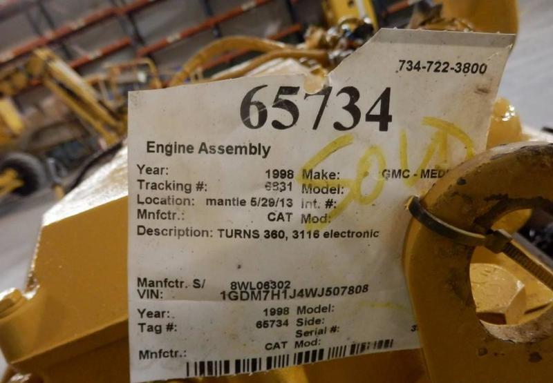 Engine Caterpillar 3126 - Truck1 ID: 3073129
