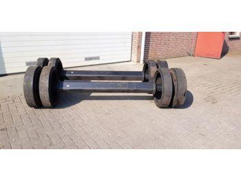Front axle Zware as met dubbelmontage wiel massief for baler