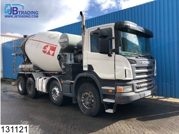 Scania P 380 8x4, Liebherr, Steel suspension, Manual, Airco,Hub reduction - бетономешалка