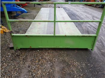 Flatbed swap body Container flat dropside body