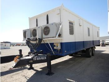 Twin Axle Trailer Mounted Client Combo Recreation Unit c/w Beds, Cabinets, Split Type A/C (GCC DUTIES NOT PAID) - swap body/ container