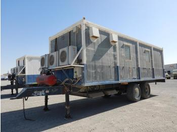 Twin Axle Trailer Mounted Geophone Repair Unit c/w Air Compressor, Split Type A/C (GCC DUTIES NOT PAID) - swap body/ container