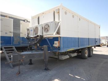 Twin Axle Trailer Mounted Shower/Laundty Unit c/w Split Type A/C (GCC DUTIES NOT PAID) - swap body/ container
