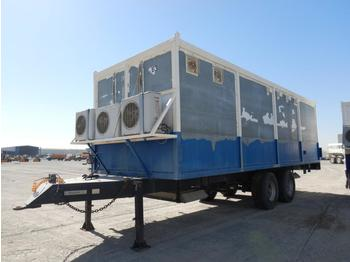 Twin Axle Trailer Mounted Showers/Toilets Unit c/w Split Type A/C (GCC DUTIES NOT PAID) - swap body/ container