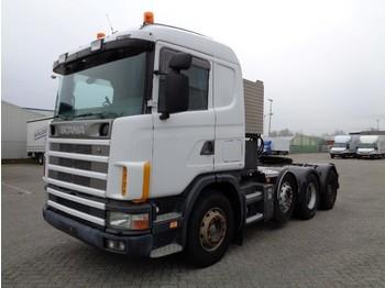 Tahač Scania R144-530 8x4, V8, Retarder, Full Steel, Big Axles