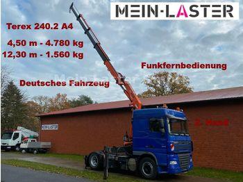 DAF XF105.410 Terex 240 Kran 12 m- 1,6 t + Funk FB  - tegljač