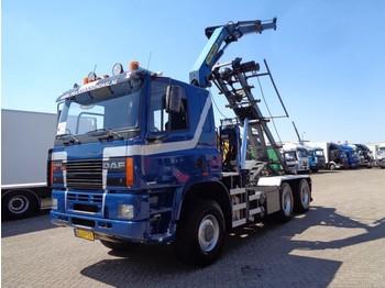 Ginaf M 3333-S +6x6+ PTO + Palfinger Crane + Container Kipper - billenőplatós teherautó