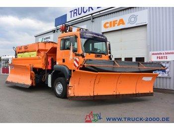 MAN TGA 28.360 6x4 3SK Winterdienst 2xSchild+Streuer - billenőplatós teherautó