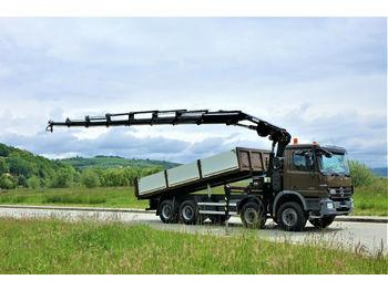 Mercedes-Benz Actros 4141 Kipper 6,40m+Kran/FUNK*8x4  - billenőplatós teherautó