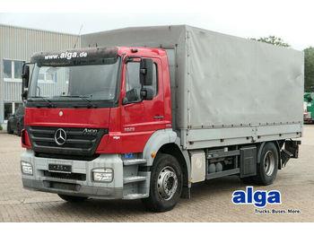 Ponyvás teherautó Mercedes-Benz 1829 L Axor/5,6 m. lang/LBW 2t./nur 74 Tkm/Klima: 1 kép.