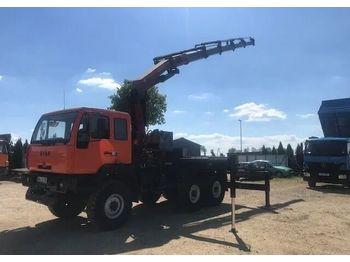 MAN 6x6 HDS PALFINGER PK 23002 - síkplatós teherautó