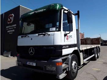 Síkplatós teherautó Mercedes-Benz Actros 2635 lames/Steel