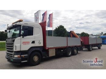 Scania R440LB6X2*4MNB PK 18502 Komplettzug !!! - síkplatós teherautó