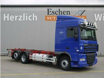 Kontejnerski tovornjak/ tovornjak z zamenljivim tovoriščem DAF XF 105.460 SC, Hubschwinge, Klima