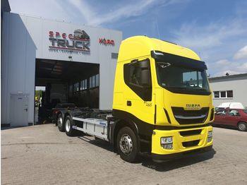 IVECO Stralis 480, AUTOMAT, CURSOR 11 German Truck, Very clean - kontejnerski tovornjak/ tovornjak z zamenljivim tovoriščem