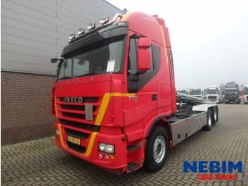 Iveco Stralis 500 Euro 5 EEV - KABEL SYSTEEM - kontejnerski tovornjak/ tovornjak z zamenljivim tovoriščem