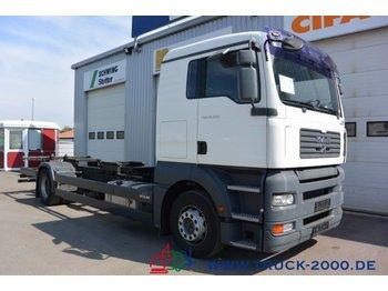 MAN TGA 18.350 BDF 1.Hand 5 Sitzer Klima Schalter - kontejnerski tovornjak/ tovornjak z zamenljivim tovoriščem