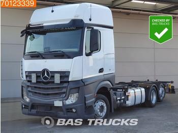 Kontejnerski tovornjak/ tovornjak z zamenljivim tovoriščem Mercedes-Benz Actros 2542 L 6X2 Retarder Standklima Liftachse ACC Euro 6