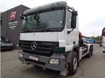 Kontejnerski tovornjak/ tovornjak z zamenljivim tovoriščem Mercedes-Benz Actros 3341 palfinger Pk 23005 tractor TOP