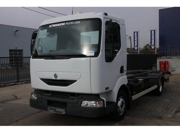 Renault MIDLUM 180 (10 T) + DHOLLANDIA - kontejnerski tovornjak/ tovornjak z zamenljivim tovoriščem