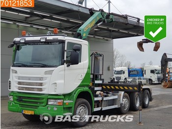 Kontejnerski tovornjak/ tovornjak z zamenljivim tovoriščem Scania G420 8X2 Retarder Lift+Lenkachse Euro 5 Palfinger PK18001-EH