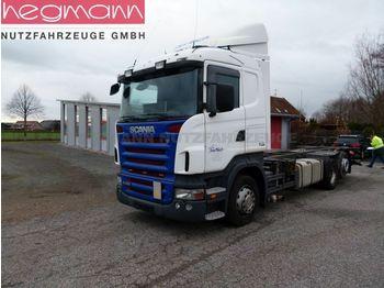 Kontejnerski tovornjak/ tovornjak z zamenljivim tovoriščem Scania R420 6x2, BDF, Retarder, deutsches Fahrzeug, LBW