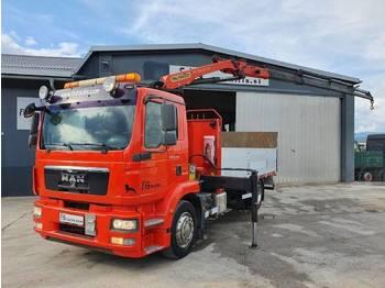 MAN TGM 18.290 BL 4x2 stake body + crane PALFINGER PK12002 EH D - tovornjak s kesonom