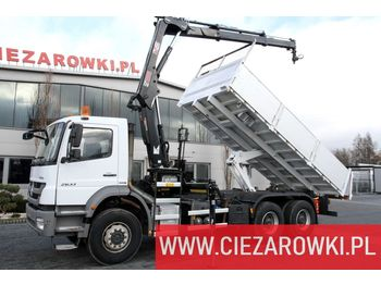 MERCEDES-BENZ AXOR 2633 E5 6x4 Tipper | Hiab XS 122 Hi-Duo - tovornjak s kesonom