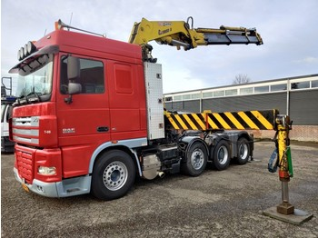 Tractor unit DAF FTM XF105.460 8x4/2 SpaceCab Euro5 - Copma Crane - Hub reduction - Manual Gearbox